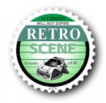 Retro TAX DISC Replacement Design With Koolart Ford Escort RS2000 External Vinyl Car Sticker 75x75mm